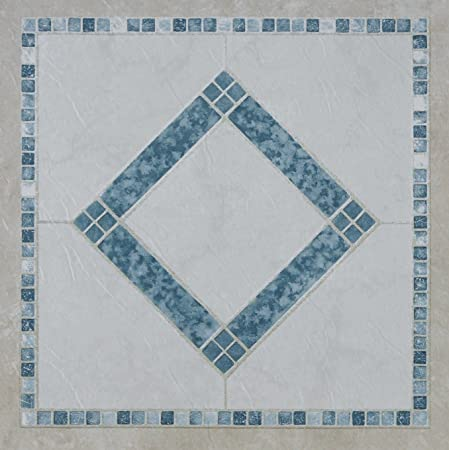 D C Fix High Quality Self Adhesive Vinyl Floor Tiles Blue Mosaic