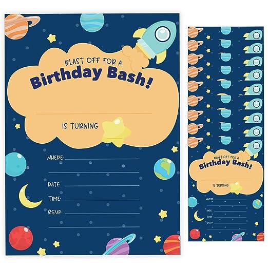 Tarjetas de invitación para cumpleaños (10 unidades) con ...