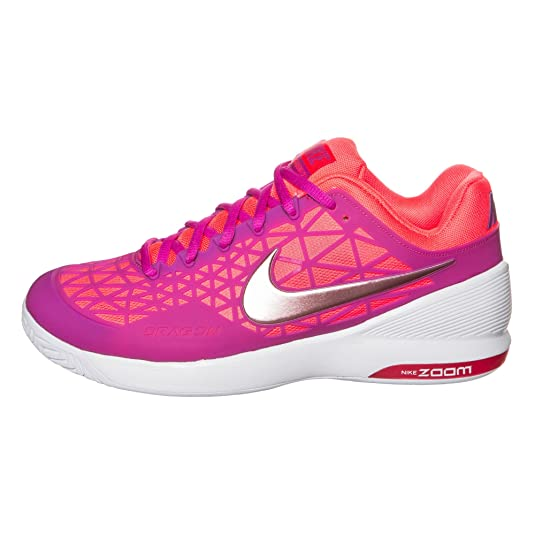 NIKE Zoom Cage 2 Tennisschuhe Damen PurpleOrange 34.5