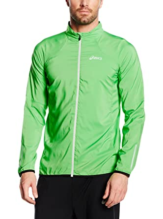 competitive price great prices best selling ASICS MEN S JACKET VERTE Veste running asics homme: Amazon ...