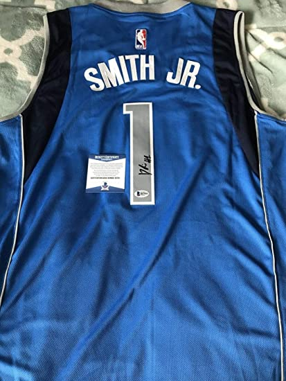 593dbe566 Image Unavailable. Image not available for. Color  Dennis Smith Jr Autographed  Signed Memorabilia Dallas Mavericks Jersey Beckett Coa