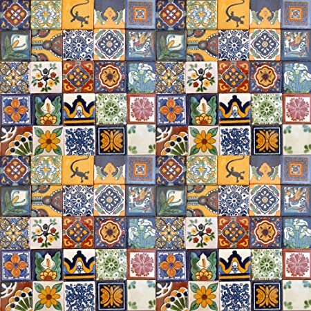 100 Hand Painted Talavera Mexican Tiles 2 x2