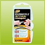 Duracell Easytab/Activair Tipo 312Pilas para audífonos Zinc Air P312PR41ZL3, 60unidades)