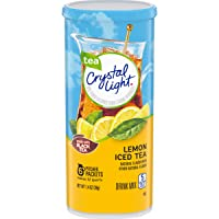 Crystal Light Lemon Iced Tea Drink Mix (72 Pitcher Packets, 12 Packs of 6)