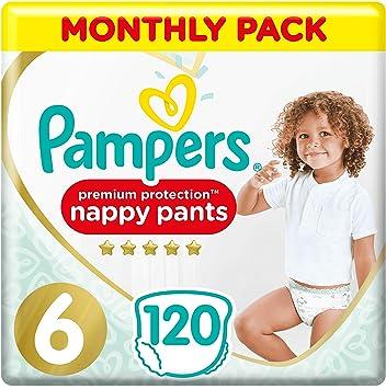 Pampers Premium Protection Pañales Pack de ahorro mensual, suave al tacto en la piel en pantalones de pañales fáciles de poner: Amazon.es: Salud y cuidado personal