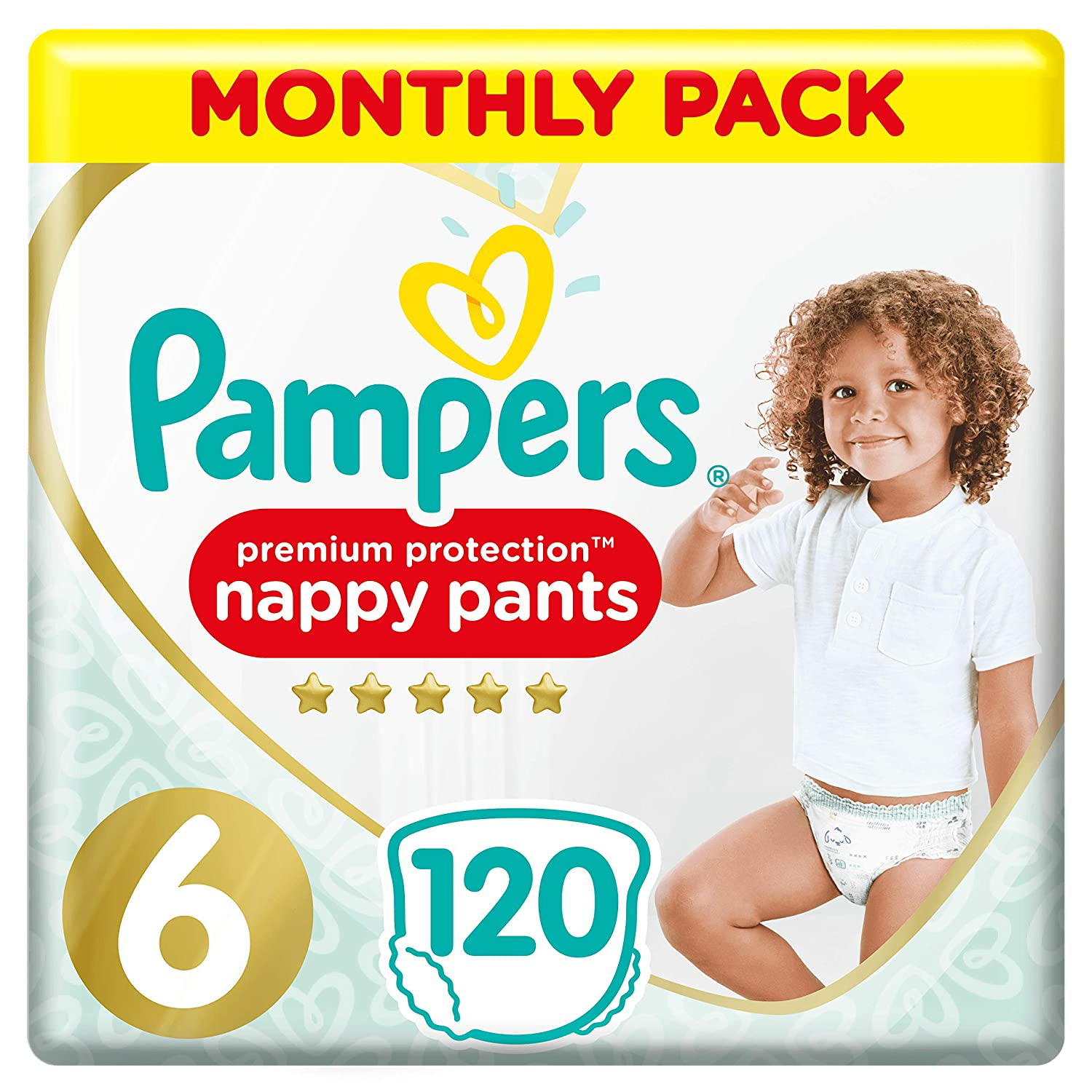 168 Nappy Pants Monthly Saving Pack 9-15 kg Pampers Premium Protection Nappy Pants Size 4 Gentlest Touch On Skin In Easy-On Nappy Pants