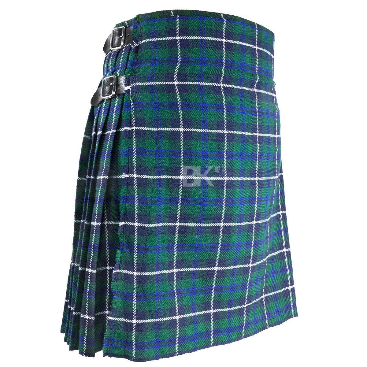 "Best Kilts Men's Traditional Scottish 5 Yard Douglas Tartan Kilt 34""-36"""