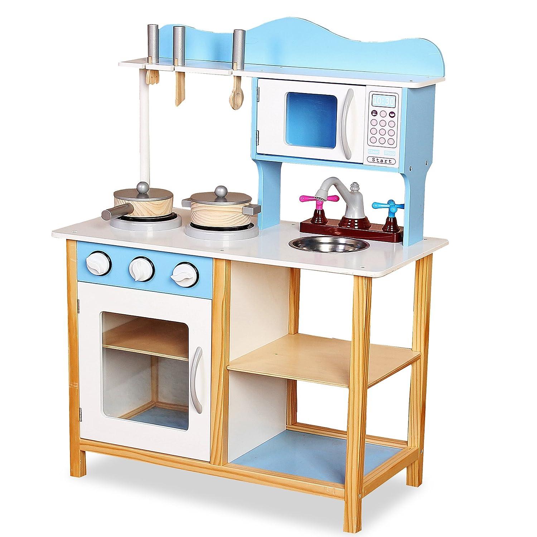 XYLO Kinderküche Holzspielküche mit Zubehör Kinderspielküche ...