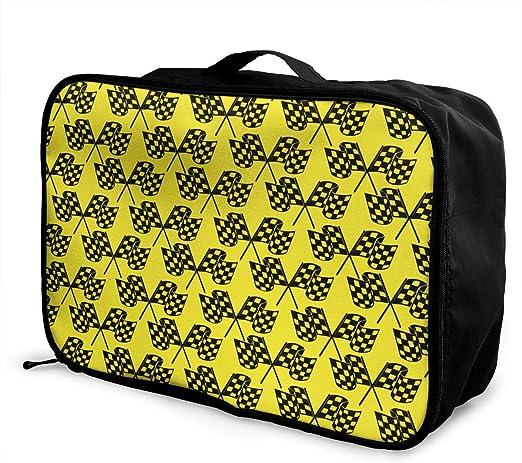 YueLJB Washington DC Flag Lightweight Large Capacity Portable Luggage Bag Travel Duffel Bag Storage Carry Luggage Duffle Tote Bag