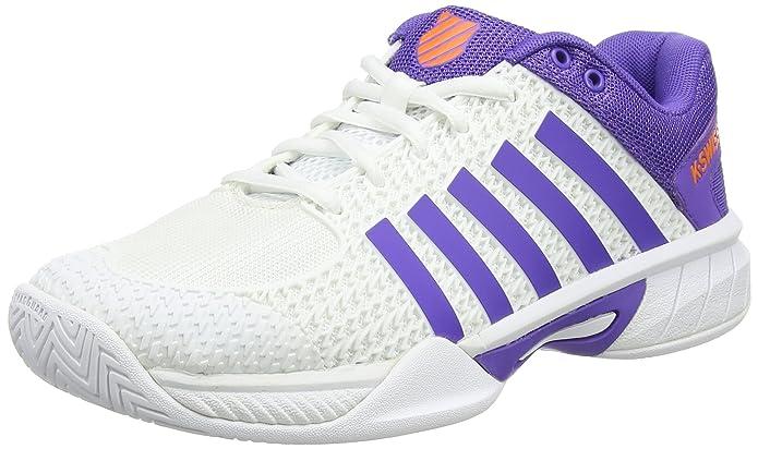 Hypermatch HB, Zapatillas de Tenis para Mujer, Blanco (White/Purple/Orange), 38 EU K-Swiss