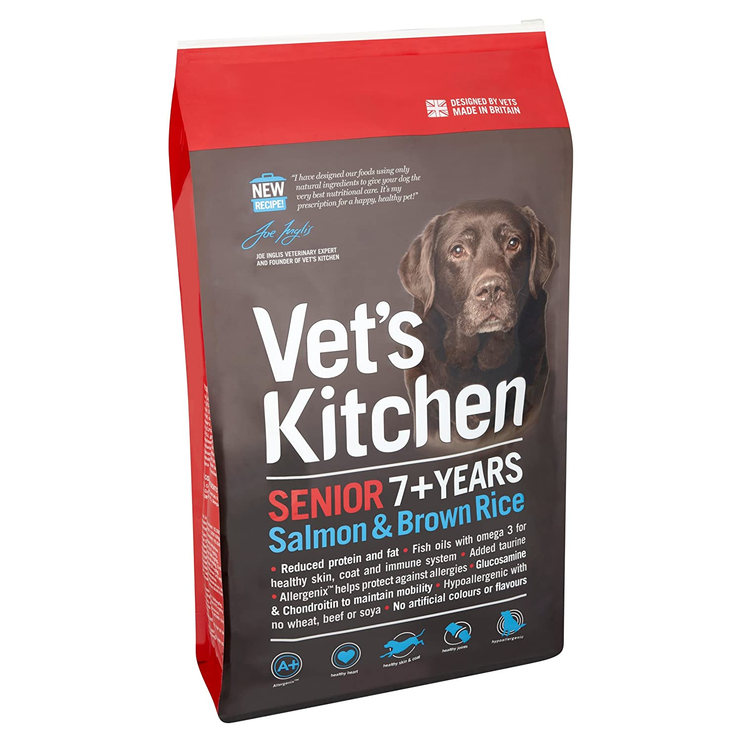 Elegant Vetu0027s Kitchen Salmon And Brown Rice Senior Complete Dog Food 7.5kg:  Amazon.co.uk: Pet Supplies Design Inspirations