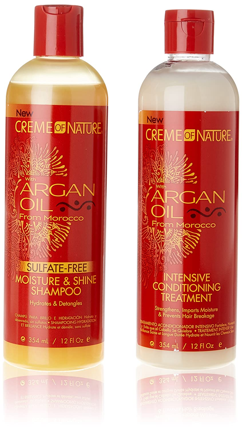 ARGAN OIL FROM MOROCCO INTENSIVE CONDITIONING TREATMENT & SULFATE FREE SHAMPOODEAL by Creme of Nature