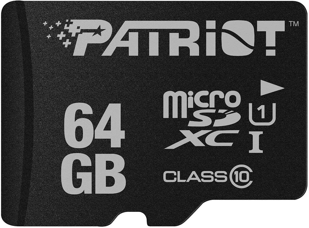 Patriot LX Series 64GB High Speed Micro SDXC Class 10 UHS-I Transfer Speeds For Action Cameras, Phones, Tablets, and PCs
