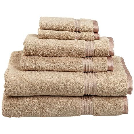Superior de algodón egipcio 6 piezas Toalla Set P