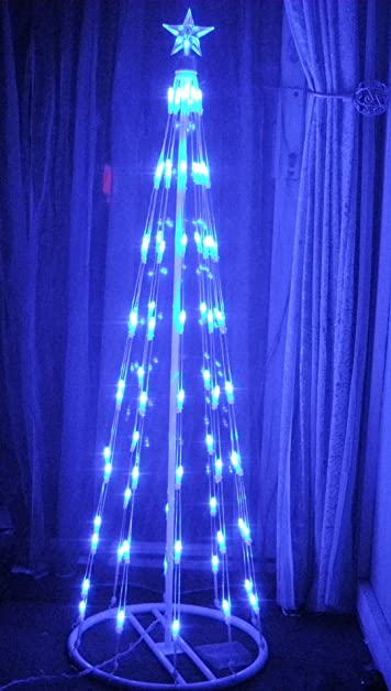 Stunning modern blue led christmas tree amazon lighting stunning modern blue led christmas tree sciox Gallery