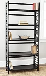 Safavieh American Homes Collection Natalie Black 5-Shelf Bookcase