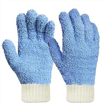 Mikrofaser Staubhandschuhe Reinigt Schwer Zugängliche Stellen Reinigung Von Jalousien Sehr Bruchsicher Fusselfrei Blau 1 Stück Bekleidung