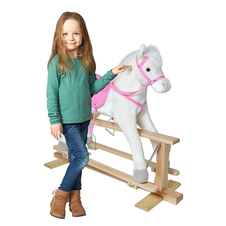 Pink Papaya Schwingpferd XXL 83cm Schaukelpferd Birta