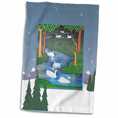 3drose Seven Swimming Snow Tree Swans Religious Symbolism Twelve