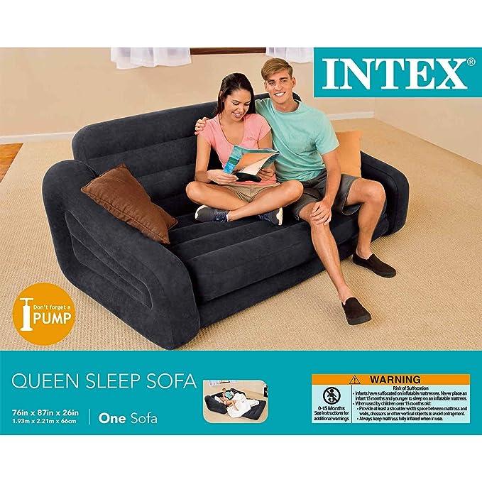 INTEX sofá Cama Inflable tamaño Queen extraíble + sillas ...
