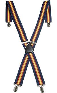 RK Tirantes Bandera de España Azul Rojo y Gualda, Elasticos: Amazon.es: Ropa y accesorios