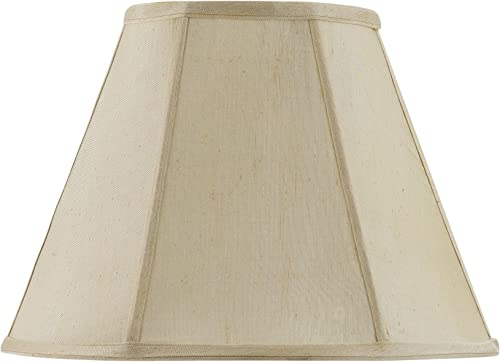 Cal Lighting SH-8106 20-CM Vertical Piped Basic Empire Shade with 20-Inch Bottom, Champagne