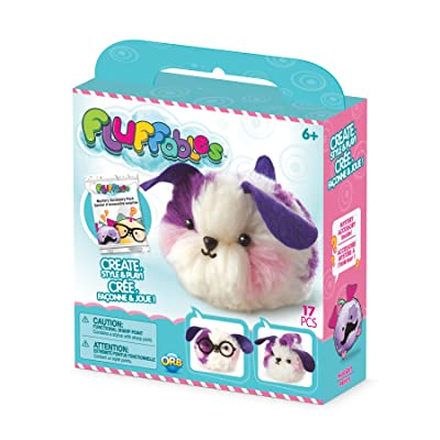 """The Orb Factory Fluffables Nugget Arts & Crafts, Purple/Pink/White, 5.75"""" x 2"""" x 6"""": Toys & Games"""