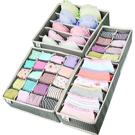 mcirco plegables Organizadores de Armario para pañuelos, ropa interior, sujetadores, calcetines y cuello