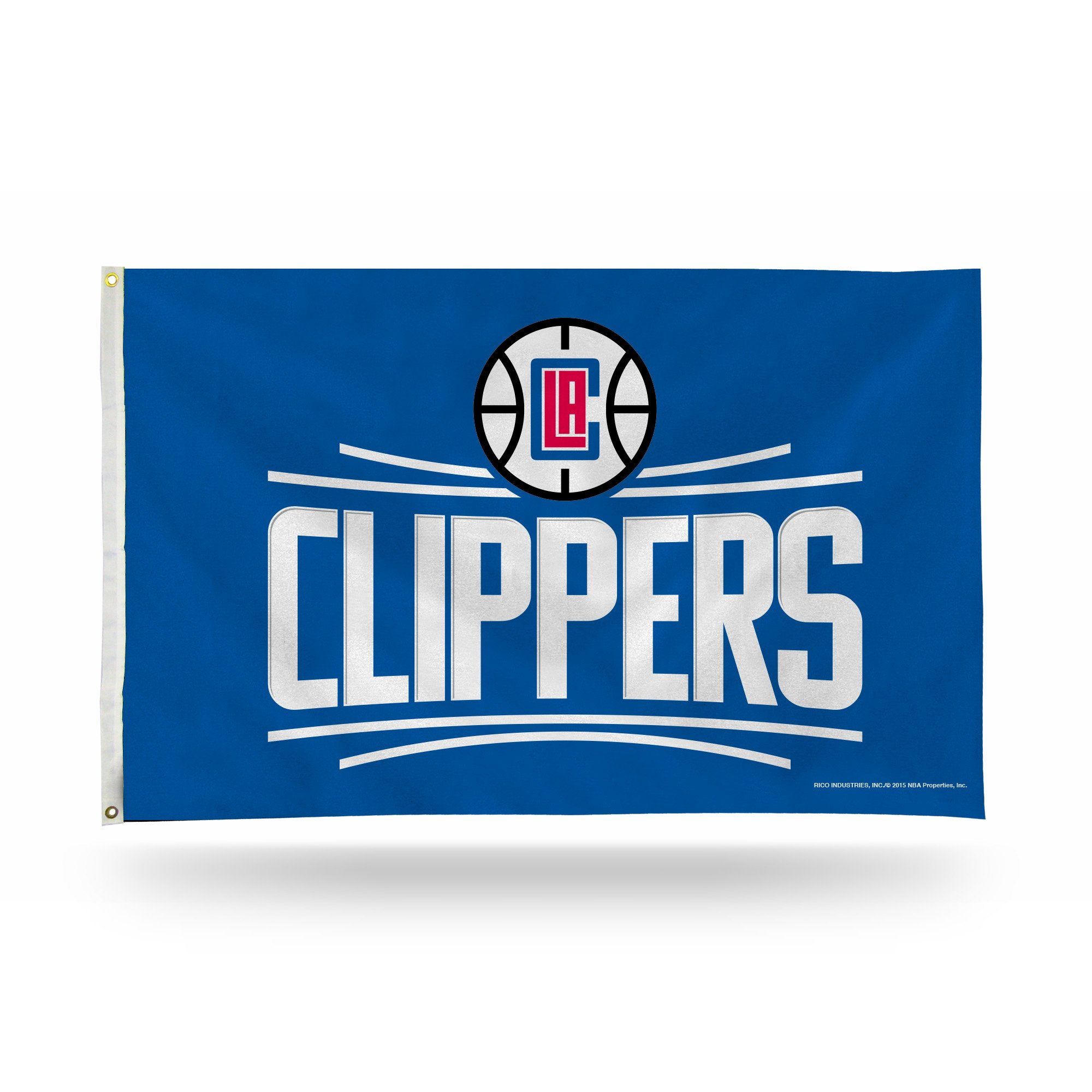 Rico NBA Los Angeles Clippers Banner Flag, 3' x 5', Blue