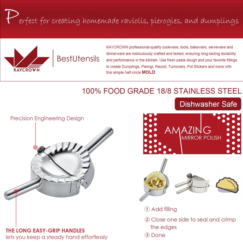 Amazon.com: Best Utensils Stainless Steel Ravioli Mold Pierogi ...