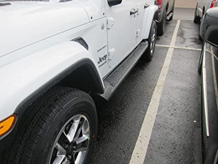 Jeep Wrangler Unlimited JL Black Molded 4 Door Running Board Side Steps OEM
