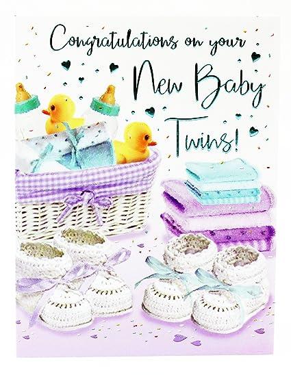 Tarjeta de felicitación para recién nacido, unisex, diseño ...