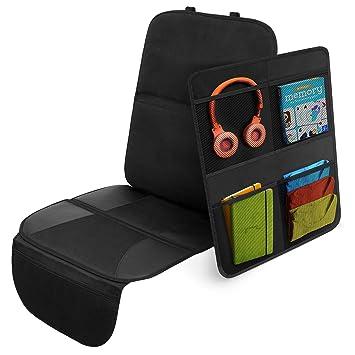 Systemoto Sitzschoner Bundle Kindersitzunterlage Rücksitz Organizer Auto Rückenlehnentasche Kinder Und Unterlage Kindersitz Baby