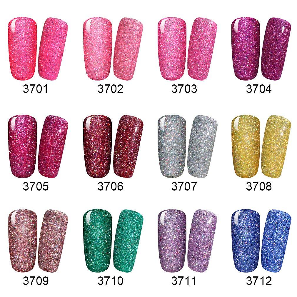 Amazon.com : Elite99 Soak Off UV LED Gel Polish Bling Neon Color ...