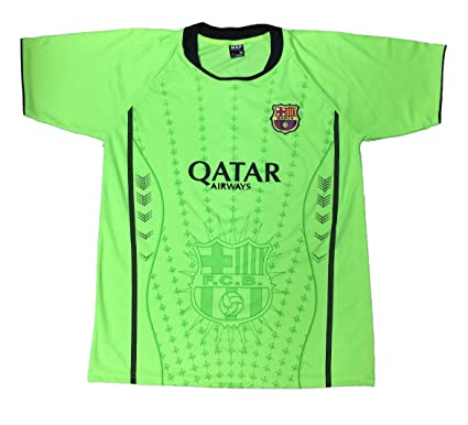 MAP Collection FC Barcelona Barza Adult Soccer Jersey Shirt Lime Green  (Small) 3854d60cb
