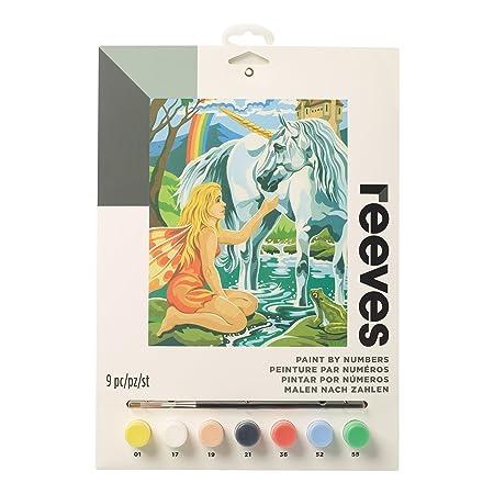 Reeves - Creatividad - Pintar por números - Mediano, unicornio: Amazon.es: Hogar