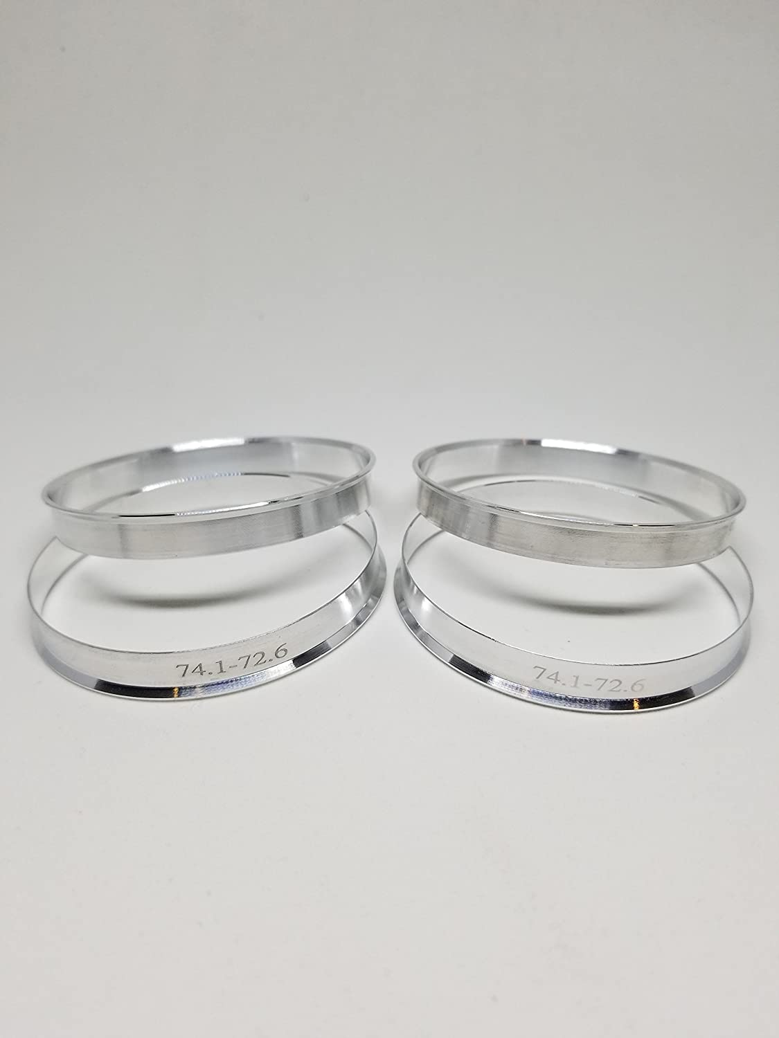 72.56mm OD to 66.6mm ID Circuit Performance Silver Aluminum Hub Centric Rings
