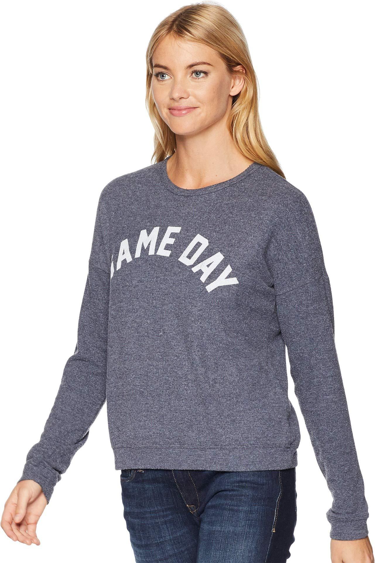 Original Retro Brand The Women's Game Day Super Soft Hacci Pullover Navy Haaci Large by Original Retro Brand (Image #2)
