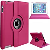 Visibee - 360 Degree Rotating Case Cover For Apple iPad Mini / iPad Mini 2 / iPad Mini 3 with Free Screen Protector