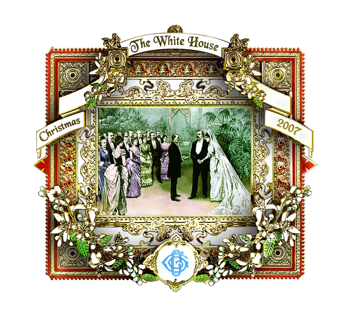 2007 White House Christmas Ornament, A President Marries In The White House