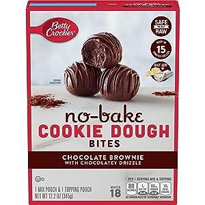 Betty Crocker Chocolate Brownie No Bake Cookie Dough Bites 12.2 Oz ( 2 pack )