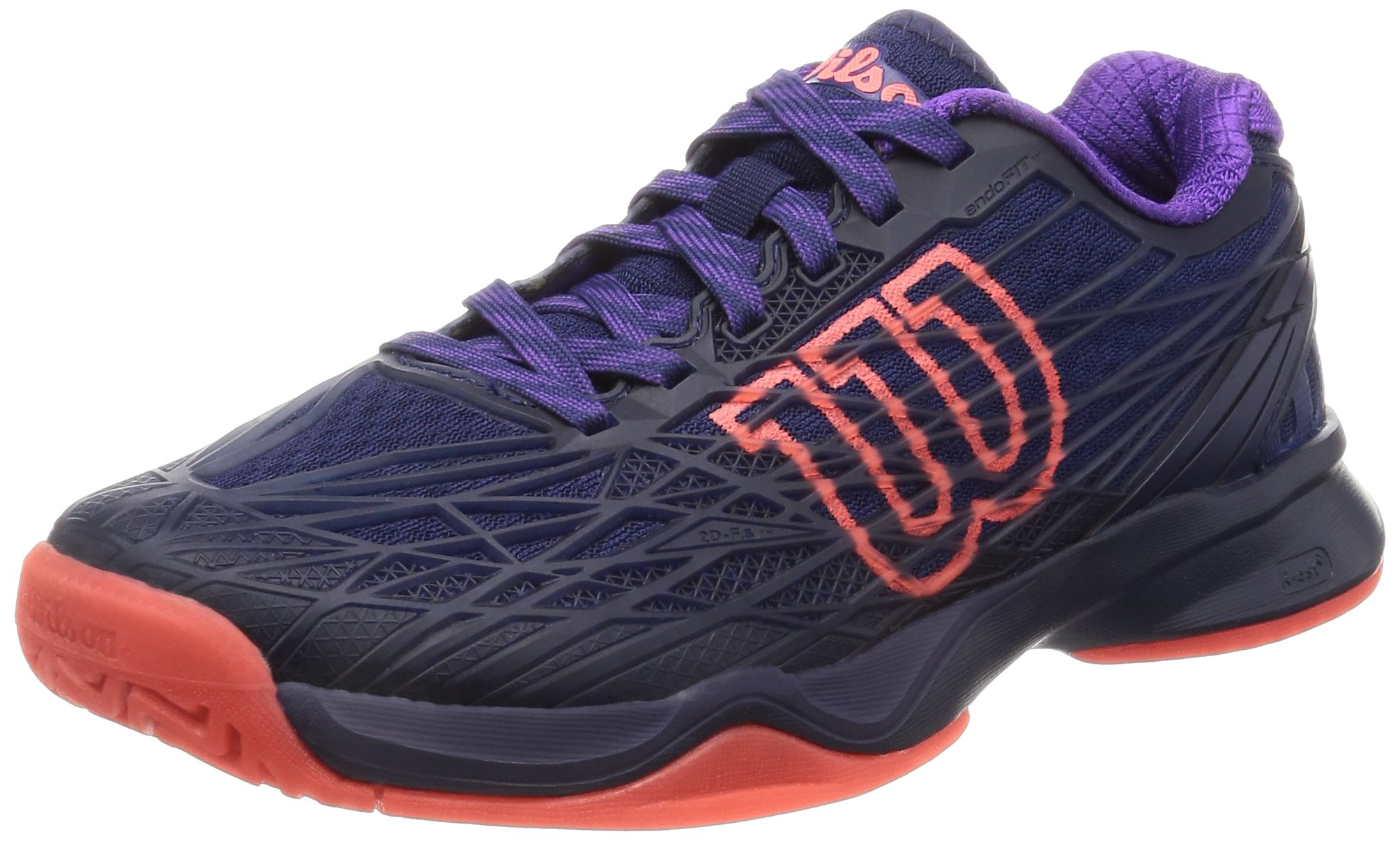 Wilson Koas Tennis Shoe Womens - Astral Aura/Evening Blue/Fiery Coal 8 B(M) US