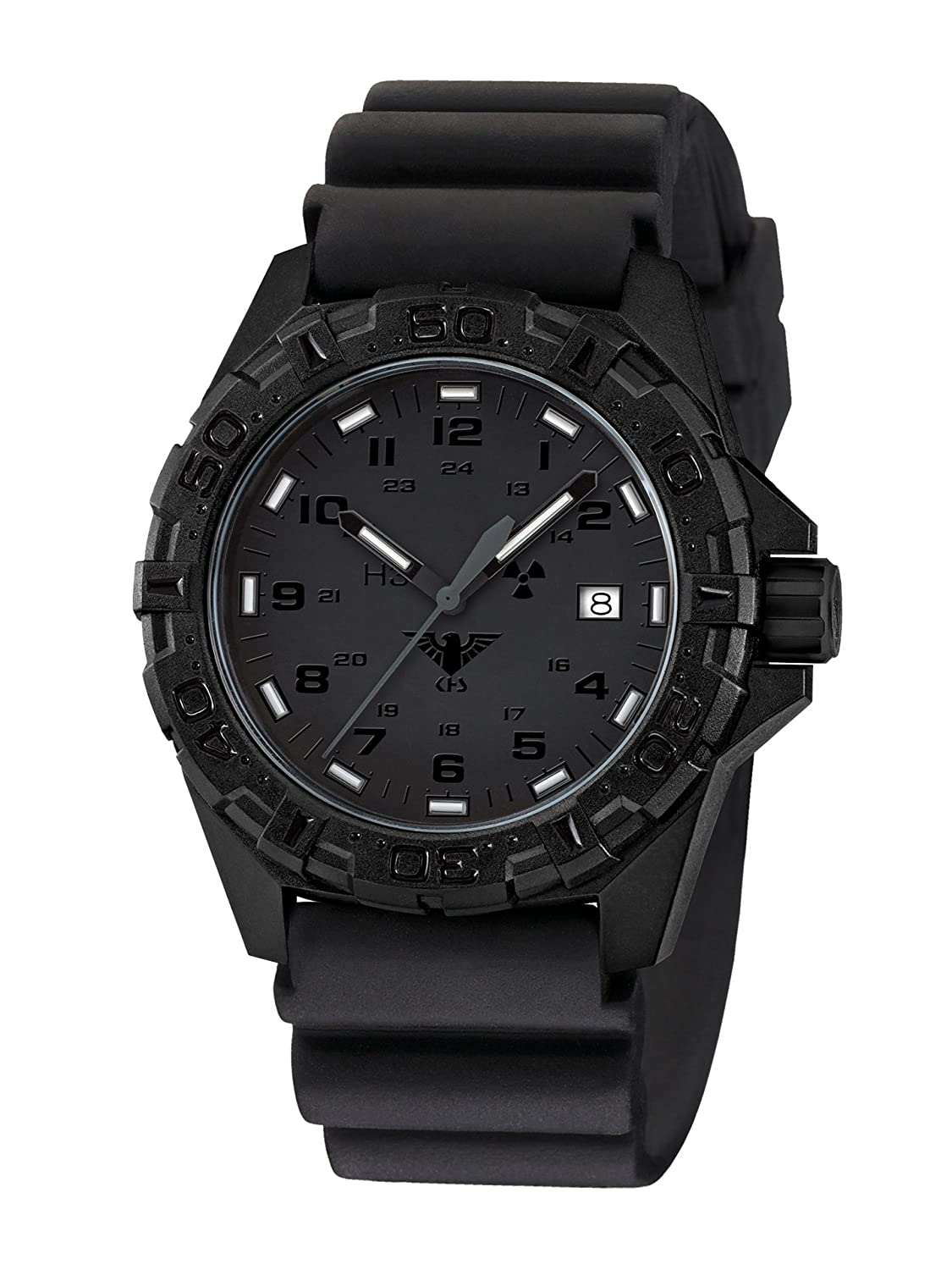 KHS Tactical Watches Reaper XTAC MilitÄr Armbanduhr Nato black KHS.REXT.DB