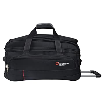 5f2d209b4 Murano Vintage 55 cm Polyester 55 LTR Duffel Bag/Travel Bag- Black:  Amazon.in: Bags, Wallets & Luggage
