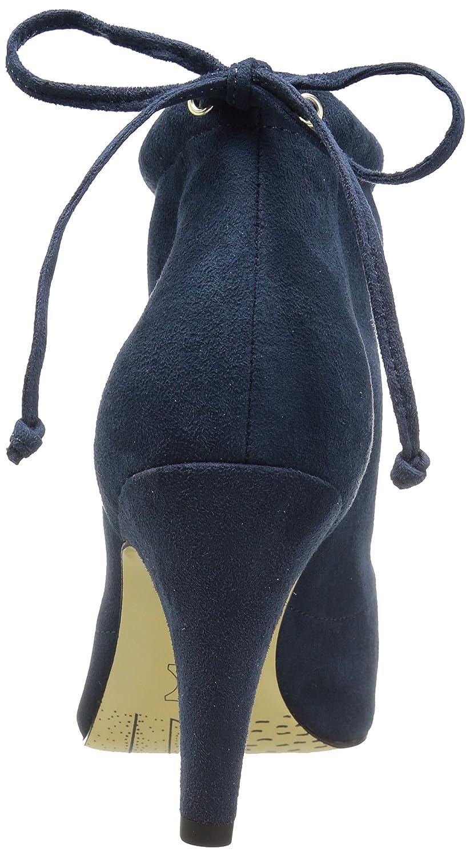 Bella Vita Women's Nicky Ii Ankle Bootie B073GGMBVZ 7 W US|Navy Super Suede