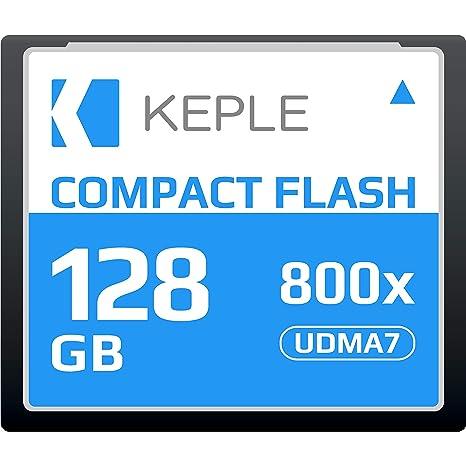CF 128 GB Tarjeta de Memoria Compact Flash 800x Velocidad 120 MB/s, R 135 MBs W 80 MBs UDMA 7 Compatible con Nikon D5, D4, D800, D810, D700, D300; ...