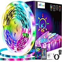 Tenmiro 65.6ft Led Lights for Bedroom,Ultra Long Smart Music Sync LED Strip Lights APP Control with Remote RGB Color…