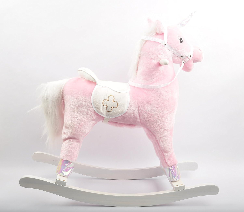 Linzy Plush 29 Pink Rocking Unicorn W// Galloping Sound L-32029-P