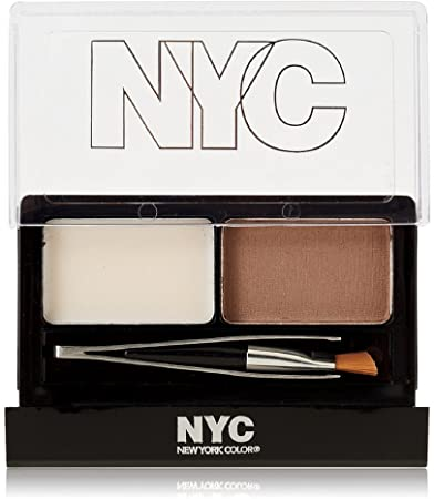 New York Color Browser Brush-On Brow Kit, Brunette 876 1 ea Pack of 4