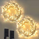 2-Pack Christmas String Lights Outdoor/Indoor, Super Bright 200 LED Christmas Tree Lights with 8 Modes, Waterproof Outdoor Fa